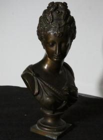 法国 老铜雕 高22厘米 包浆浓厚 古老 西洋古董摆件