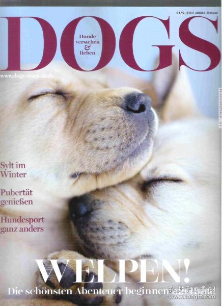 国外宠物狗杂志 DOGS 2017年1-2月 德文原版狗狗杂志