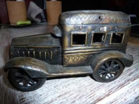 法国 铜雕 古董汽车 1917年 440克 18厘米长 10 厘米高