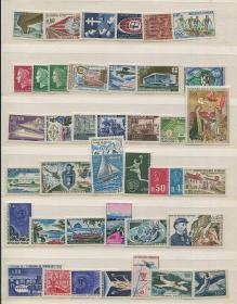 法国邮票 新票(基本成套)75枚