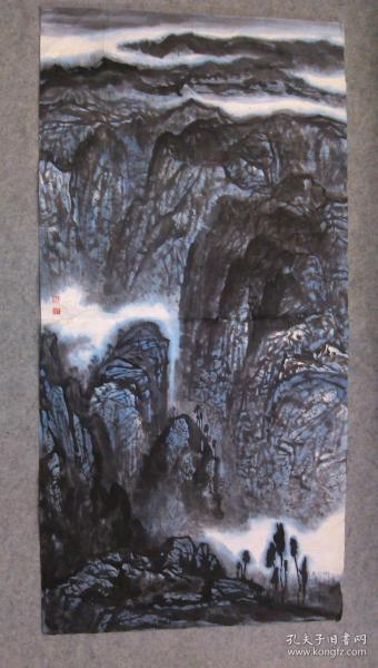 著名画家游老师 国画精品山水 四尺整纸 原稿手绘真迹 保真