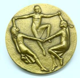 钱币美国铜章协会 1968年 直径7.3厘米 重210克钱币收藏