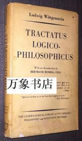 Wittgenstein   维特根斯坦   :  Tractatus Logico-Philosophicus  逻辑哲学伦  罗素撰前言  德英对照  Routledge 1958  原版精装本带封套  私藏品好