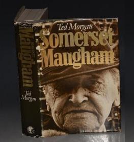SOMERSET MAUGHAM 全插图本《毛姆传》1版1印 布面精装大开本 原书衣全