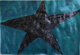 青年书画家胡子彩墨绘画作品:《星形》