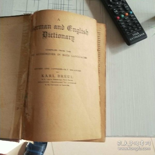 GERMAN–ENGLISH  DICTIONARY