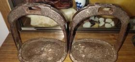 清代错银马蹬、皇宫贵族用品