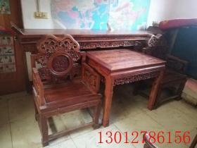 清代黄花梨中堂古董木器