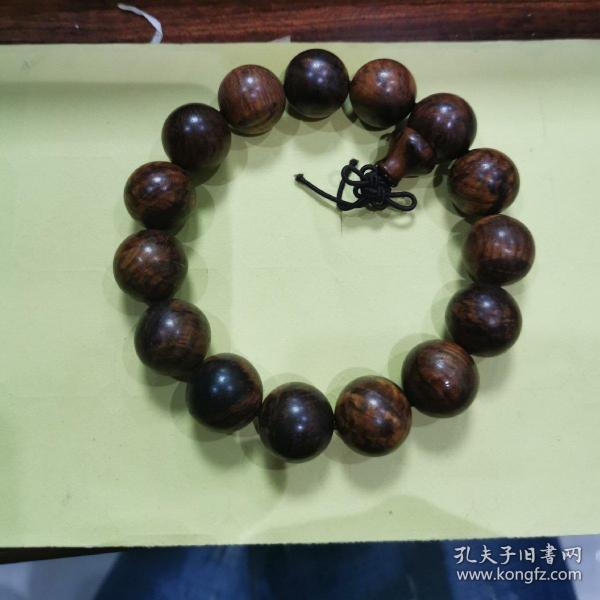 海南黄花梨1.5手串水波粼粼,亏本不议价