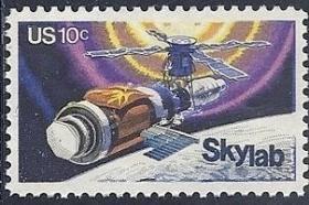美国 1974,宇航飞船,太空实验室,外国邮票1全新 雕刻板