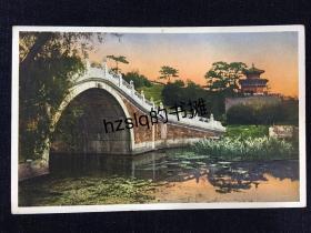 【影像资料】民国早期北京名胜明信片_颐和园罗锅桥(万寿山石桥)