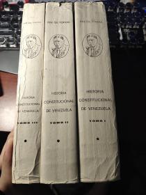 historia constitucional de venezuela quinta edicion tomo primero la colonia la independencia la gran colombia 三册合售