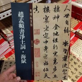 老碑帖系列:赵孟頫书净土词.海赋
