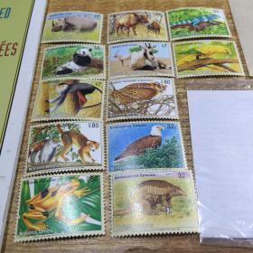 ENDANGERED SPECIES 1995 濒危物种邮票(12张)1995年联合国邮政管理处发行