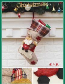 圣诞袜礼品袋装饰袜圣诞老人款1支