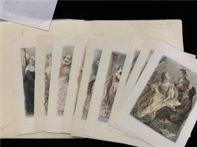 《LE DOCTORAT IMPROMPTU》1册全,书中各卷首有一张彩色插图,共10幅,并夹有十张彩色插图,色彩鲜艳,1946年巴黎出版
