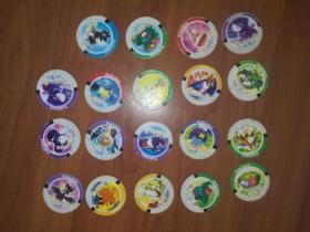 动画制作圆卡:精灵币19枚合售