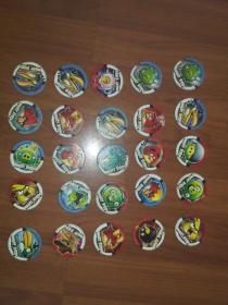 小当家食品圆卡:愤怒的小鸟共25枚
