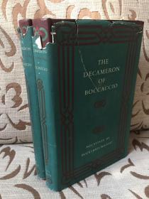 The Decameron of Boccaccio 薄伽丘《十日谈》Folio society 1954年出品 精装两卷本 Richard Aldington英译 Buckland Wright精美手工石版画 书衣残破 书品不错