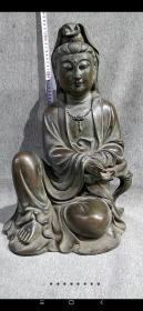 明宣德紫铜观世音菩萨造像