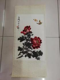 图片——条幅(牡丹)(王雪涛作品)(人民美术出版社1978年7月一版二印)