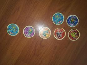 小二郎圆卡:弹珠人3枚、葫芦兄弟2枚、福娃3枚、忍者神龟7枚、火力少年王3枚共计18枚合售(都是比较少的类型)