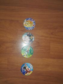 卡之宝圆卡:七龙珠4张合售