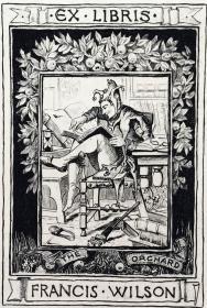 """""""美国藏书票黄金时期"""" E. H. GARRETT铜版藏书票 《读书》"""