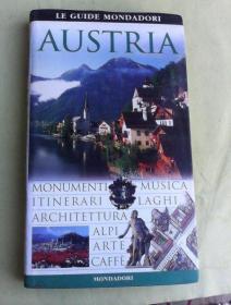 Le guide Mondadori   Austria         奥地利导览     铜版纸彩印  图文并茂  意大利语版