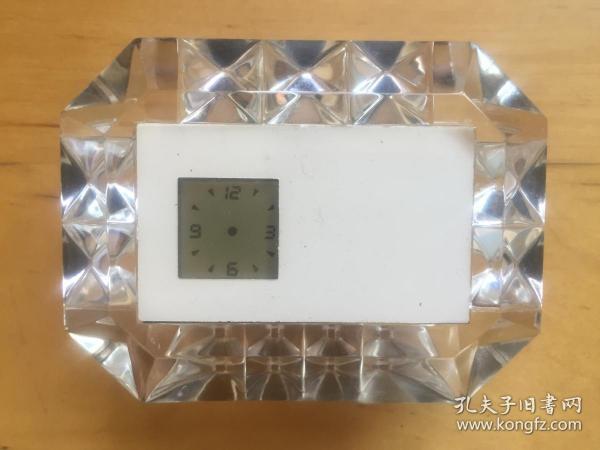 水晶电子表小摆件  指针表