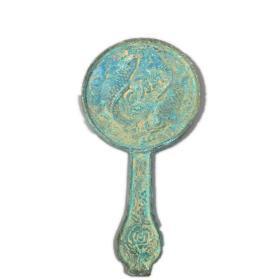 仿古铜镜 仿宋代铜镜 双鱼鲤鱼跃龙门年年有鱼铜镜结婚用品道具