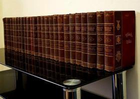1871 The Waverley Novels by Sir Walter Scott  沃尔特·司各特爵士的《韦弗莱小说》百年纪念版第25版 25册 带护纸钢板画插图 部分顶边未裁 19.5*14cm