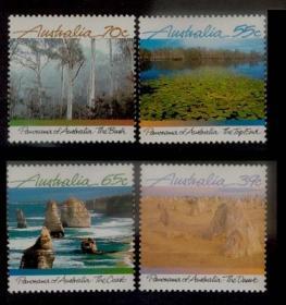 澳大利亚 1988 美丽的澳洲 风光 沙漠 山峰 沼泽 海岸4全新