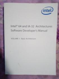 Intel 64 and IA-32 Architectures Software Developers Manual(套装全两卷)