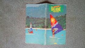 旧地图-法国科西嘉岛地图法文版(1986年)8开8品