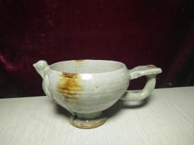 宋代越窑青瓷鸟形杯