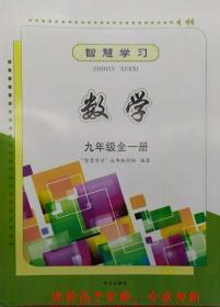 智慧学习数学九年级全一册9年级明天出版社六三制63制2019最新版