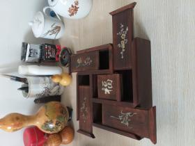 螺钿福字盒 镶嵌贝壳