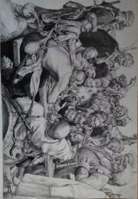 列宾油画临摹 给苏丹回信 包邮