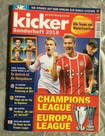 原版KICKER2018欧冠特辑