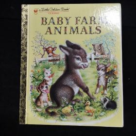 英文原版绘本 Baby Farm Animals (Little Golden Book Classic)[农场的小动物]