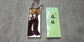 日本传统工艺《 高级石 风镇 》 2个1对 风镇是挂画用具,卷轴挂画挂上风镇不容易被风吹起, 还很雅致。 也可以在茶道、花道及床头装饰用
