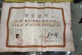 浙江医科大学附属中医医院毕业证书1960年