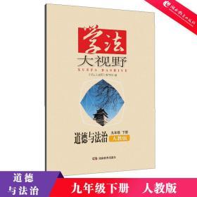 全新正版 2019年最新版 学法大视野 道德与法治 初中 九年级 下册 人教版 湖南教育出版社