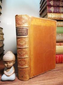 1891年 The Poetical Works of Lord Byron 含 William Nimmo插图   书坊 BICKERS全皮装帧  三面书口花纹  18.5X13CM