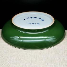 单色釉纪念瓷盘