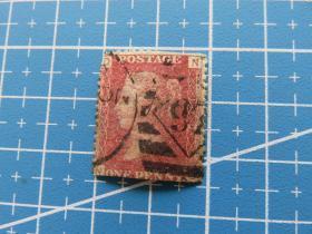 1850年左右英国女王像红便士邮票