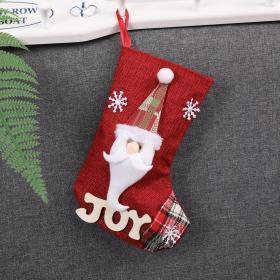 圣诞节糖果礼物袋装饰道具圣诞老人袜子