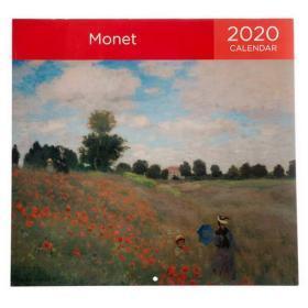 Monet 2020 Square Calendar 莫奈油画作品英文版挂历 Format:CalendarBrand:WHSmithSize:SquareYear:2020