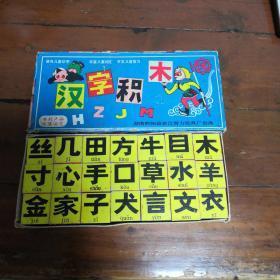 上世纪八九十年代汉字积木一套完整